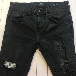 PACSUN Skinniest 30X30 Destroyed Patched Jean